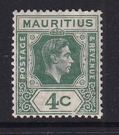 Mauritius: 1938/49   KGVI    SG254     4c  Dull Green   MH - Mauritius (...-1967)