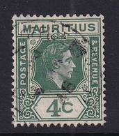 Mauritius: 1938/49   KGVI    SG254c     4c  Deep Dull Green   Used - Mauritius (...-1967)