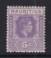 Mauritius: 1938/49   KGVI    SG255b     5c  Pale Lilac  MH - Mauritius (...-1967)