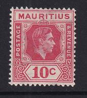 Mauritius: 1938/49   KGVI    SG256      10c  Rose-red    MH - Mauritius (...-1967)