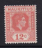 Mauritius: 1938/49   KGVI    SG257     12c    MH - Mauritius (...-1967)