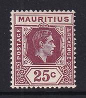 Mauritius: 1938/49   KGVI    SG259b     25c    MH - Mauritius (...-1967)