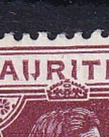Mauritius: 1938/49   KGVI    SG259ba     25c  ['IJ' Flaw]  MH - Mauritius (...-1967)