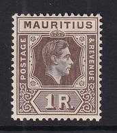 Mauritius: 1938/49   KGVI    SG260c     1R   Drab   MH - Mauritius (...-1967)