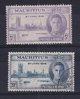 Mauritius: 1946   Victory   Used - Mauritius (...-1967)