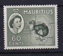 Mauritius: 1953/58   QE II - Pictorial   SG302a     60c   Deep Green  MH - Mauritius (...-1967)