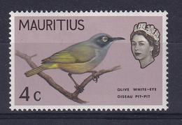 Mauritius: 1965   QE II - Birds   SG319     4c    MNH - Mauritius (...-1967)
