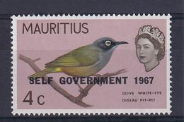 Mauritius: 1967   QE II - Birds 'Self Government' OVPT  SG351     4c     MNH - Mauritius (...-1967)