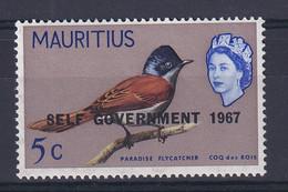 Mauritius: 1967   QE II - Birds 'Self Government' OVPT  SG352     5c     MNH - Mauritius (...-1967)