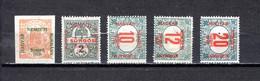 Hungría    ( Szeged )  1919 .-  Y&T Nº  40/41   Periódicos,   3/5   Taxa - Szeged