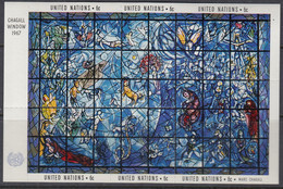 UNO NEW YORK  Block 4, Postfrisch **, Kunstwerke: Chagall, 1967 - Hojas Y Bloques