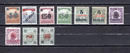 Hungría    ( Temesvar )  1919 .-  Y&T Nº  1-2/4-5-5a,   1-1a-2/3   Taxa    (   3  Falta Punta   ) - Temesvár