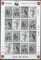 ISLE OF MAN  408-411, Kleinbogen, Postfrisch **. Weltweiter Naturschutz WWF: Seevögel 1989 - Isla De Man