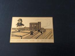 Plaquette émaillée Monument Albert Ier à Nieuwport (Postzegel Club De Westhoek ) - Autres