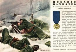 CPA - WW2 WWII Propaganda - MEDAGLIA D'ORO (58) - 80° Reggimento Fanteria - Rosario Randazzo Da San Cono - NV - WN138 - War 1939-45
