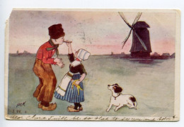 016M/ Dutch Children, Enfants Holland, Signed PcK Or AcK 1906 The Peackock PCK Series, Watertown NY To Brooklyn - Altre Illustrazioni