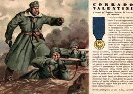 CPA - WW2 WWII Propaganda - MEDAGLIA D'ORO (62) - 47° Reggimento Fanteria - Corrado Valentini Da Ancona - NV - WN141 - War 1939-45