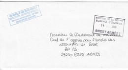 18084 - LETTRE OFFICIELLE - SOUS-MARIN - ESCADRILLE DES SNLE - BREST ARMEES 2008 - Naval Post