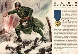 CPA - WW2 WWII Propaganda - MEDAGLIA D'ORO (69) - Camicia Nera Aldo Spagnolo Da Brindisi - VG - WN143 - War 1939-45
