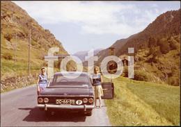 1966 ORIGINAL AMATEUR PHOTO FOTO ANDORRA ANDORRE OPEL REKORD - Lieux