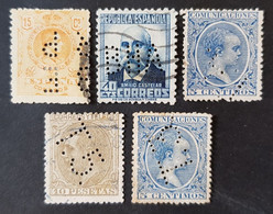 Espagne - Spain - Timbre(s) Divers Perforés/Perfin's (O) - 2 Scan(s) - TB - 857 - Unused Stamps