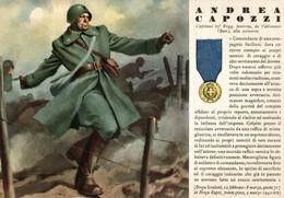 CPA - WW2 WWII Propaganda - MEDAGLIA D'ORO (73) - 63° Reggimento Fanteria - Andrea Capozzi Da Valenzano - NV - WN144 - War 1939-45