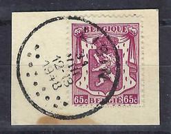 """BELGIQUE 1948: Le Y&T 763 Avec Obl. Spéciale CAD """"Lisin"""" Sur Fragment - Used Stamps"""