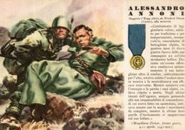 CPA - WW2 WWII Propaganda - MEDAGLIA D'ORO (78) - 1° Reggimento Alpini - Alessandro Annoni Da Mondovì Cuneo - NV - WN146 - War 1939-45