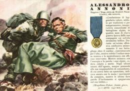 CPA - WW2 WWII Propaganda - MEDAGLIA D'ORO (78) - 1° Reggimento Alpini - Alessandro Annoni Da Mondovì Cuneo - NV - WN147 - War 1939-45