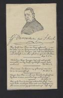 DOODSPRENTJE * PRIESTER * LIVINIUS VAN OUTRIVE * ° BRUGGE + YPRE 1851 * PASTOOR IEPER * 2 SCANS - Avvisi Di Necrologio