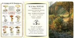 Petit Calendrier  à 3 Volet De 1987, Pharmacie PONTAIS à SAINT BRICE EN COGLES, (35), Champignons - Small : 1981-90