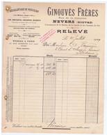 NIEVRE - NEVERS - GINOUVES Frères - Vis, Boulons, Goujons, Ecrous, Etc...Rue De La Jonction - 1900 – 1949