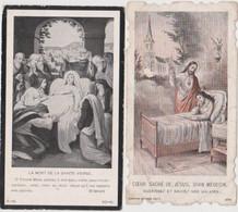 2 Anciennes Images Religieuse, DIVIN MEDECIN  A SAINT GERMAIN DU GRIOULT (calvados) - Religion & Esotericism
