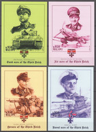 AA771 IMPERF 2013 HISTORY WWII WORLD WAR 2 ACES OF THE THIRD REICH 4BL MNH - 2. Weltkrieg