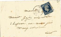 Lettre-formulaire Entière Du 5 Jiin 1857 - Orléans Pour Mung-sur-Loire - 1849-1876: Période Classique