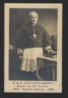 OVERLIJDEN KANUNNIK ISERBYT * PASTOOR SINT SALVATOR * ° HARELBEKE 1852 + BRUGGE 1929 * PRIESTER * FOTO - Obituary Notices