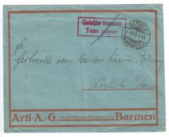 Gebühr Bezahlt Brief 1923 - Covers & Documents