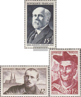 France 882,883,884 (complete Issue) Unmounted Mint / Never Hinged 1950 Poincare, Peguy, Rabelais - Ongebruikt