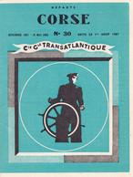 LIVRET DE LA Cie Gle TRANSATLANTIQUE DES DEPARTS CORSE/CONTINENT/CORSE - N°30  DE NOVEMBRE 1961 - MAI 1962 - Europa