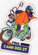 Autocollant FINA L'ami Des 2 Temps  Moto - Stickers