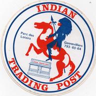 Autocollant Indian Trading Post  Parc Des Loisirs De Gennevilliers  Cheval ,indien - Stickers