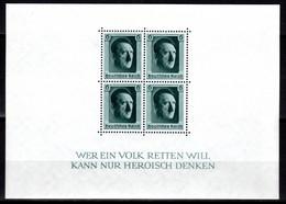 DEUTSCHES REICH, 1937 Block 48. Geburtstag Von Adolf Hitler, Postfrisch ** - Unused Stamps