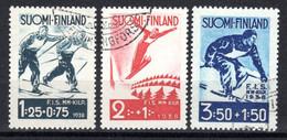 FINNLAND, 1938, Internationale Skiwettkämpfe Lahti, Gestempelt - Used Stamps