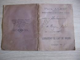 Paul ALRIC  Negociant Roquefort : Livraison De Lait De Brebis 1937 - Roquefort