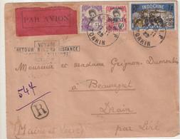 INDOCHINE : PA . REC . COSTE ET BELLONTE . 1929 . - Briefe U. Dokumente