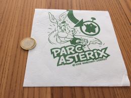 """Serviette Papier ** """"PARC ASTERIX - 2008 GOSCINNY UDERZO"""" 14,5x14,8cm Pliée - Company Logo Napkins"""