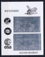 Nagaland Space 1978 Honor To The Conquest Of Spac. Logos Of Apollo 11, ASTP And ESA. Apollo 15 And Shuttle, Silver - Non Classificati