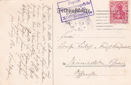 383-66  Feldpostkarte Nach Einsiedeln (Suisse) 27-9-1915.  Stempel: Geprüft Überwachungsstelle Freiburg - Storia Postale