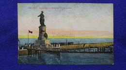 Port-Said Inauguration Du Monument  A F. De Lesseps Egypt - Port Said