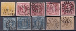 Altdeutschland Bayern 1862 - Mi.Nr. 8 - 11 - Gestempelt Used - Bavaria